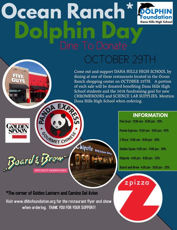 Dana Point Dana Hills High School Dolphin Day October 29 2018