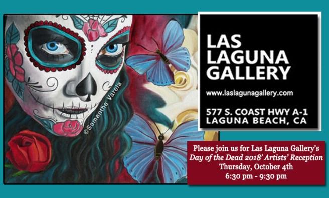 Las Laguna Gallery Laguna Beach California Day of the Dead Art Walk October 4 2018