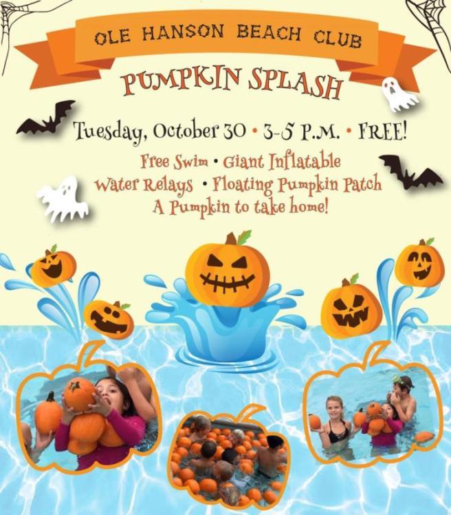 San Clemente Ole Hanson Pumpkin Splash October 30 2018