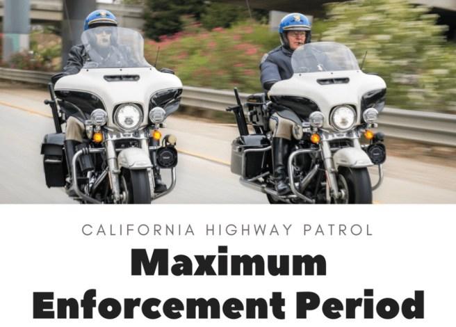 California Highway Patrol Maximum Enforcement Period