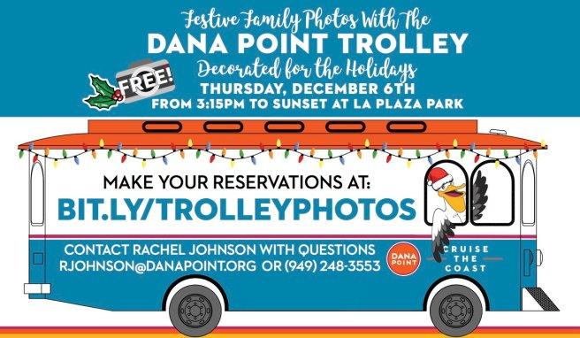 Dana Point Trolley Holiday Photos December 6 2018