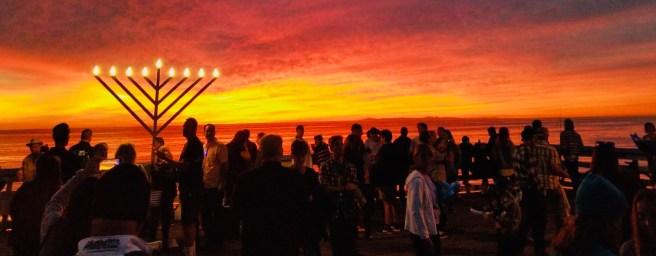 Chanukah Menorah Lighting at San Clemente Pier Courtesy of Chabad San Clemente