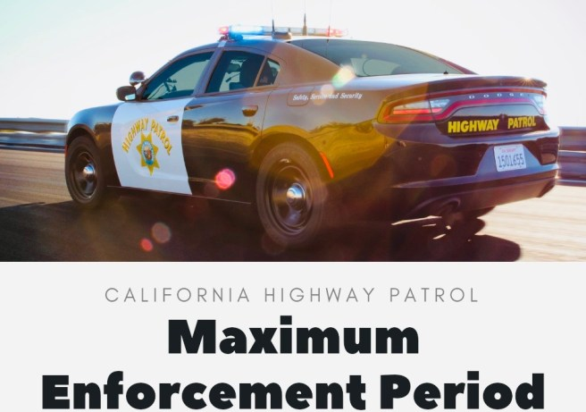 California Highway Patrol Maximum Enforcement Period