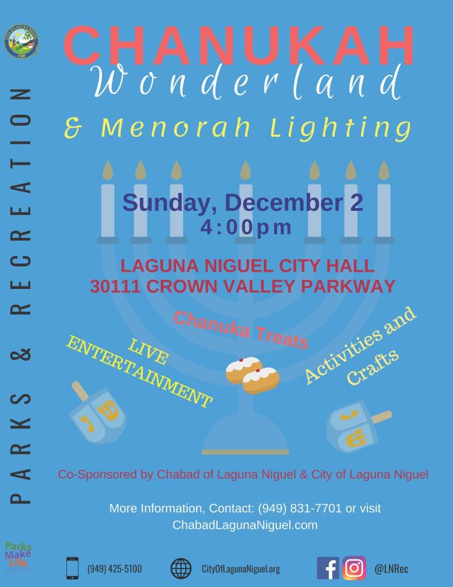 Laguna Niguel Chanukah Wonderland December 2 2018