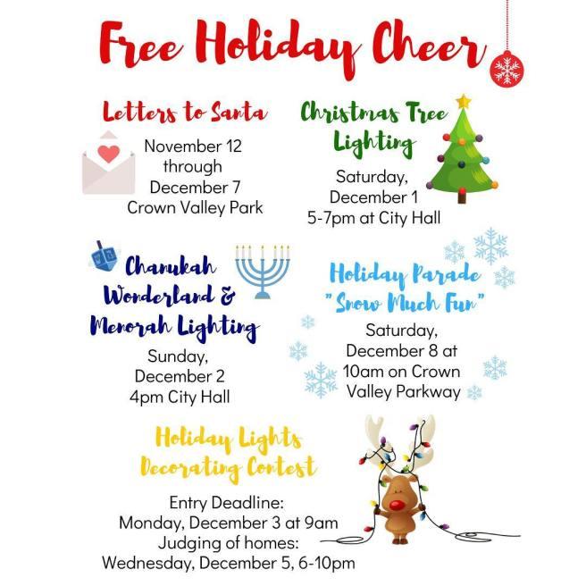 Laguna Niguel Holidays 2018 Event Calendar