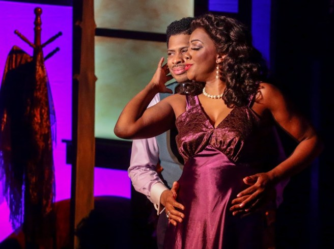 Chester Gregory and Paulette Ivory star in the Wallis Annenberg production of Blues in the Night. Photo by: Lawrence K. Ho Courtesy of Laguna Playhouse