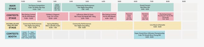 OC Tet Festival Sunday February 10 2019 Entertainment Schedule