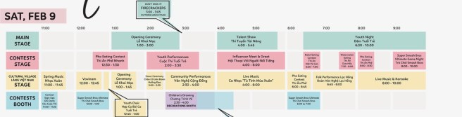 OC Tet Festival Entertainment Schedule Saturday February 9 2019