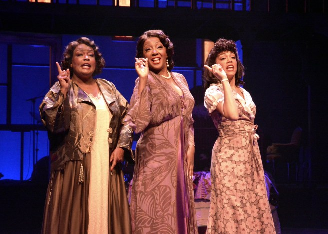 """Yvette Cason, Paulette Ivory and Jenna Gillespie star in """"BLUES IN THE NIGHT,"""" at the Laguna Playhouse, conceived and directed by Sheldon Epps and now playing at the Laguna Playhouse in Laguna Beach."""