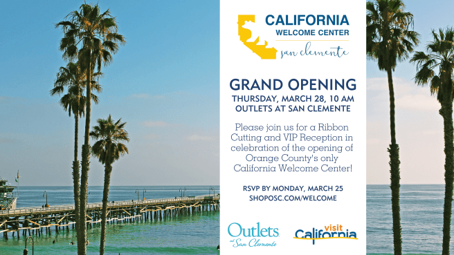 California Welcome Center San Clemente Outlets March 28 2019