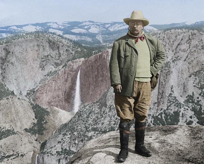 Theodore Roosevelt at Glacier Point Yosemite California Courtesy of ArcadiaPublishing.com