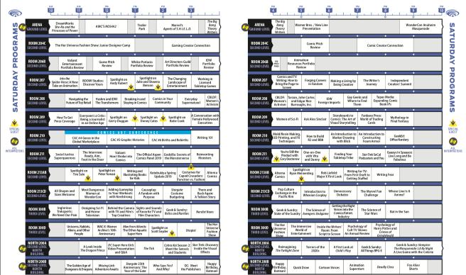 Wondercon Saturday March 30 2019 Schedule
