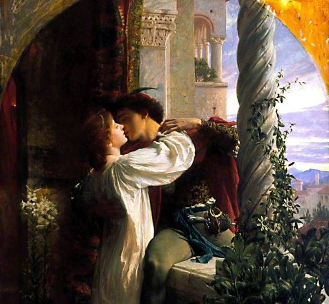 Frank Bernard Dicksee, Romeo and Juliet (1884) Oil on Canvas, Southhampton City Art Gallery, Hampshire England Courtesy of Laguna Art Museum