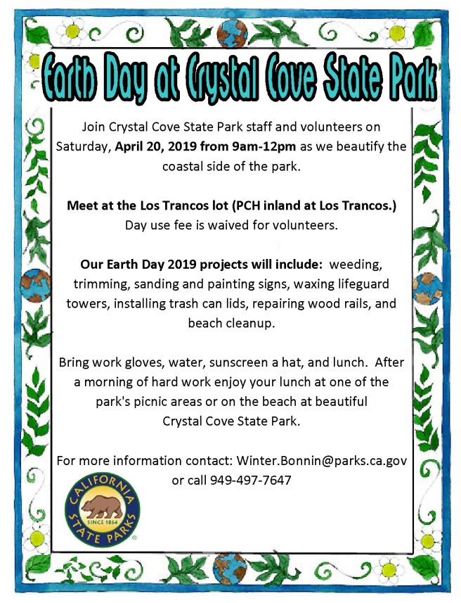 Crystal Cove Earth Day April 20 2019