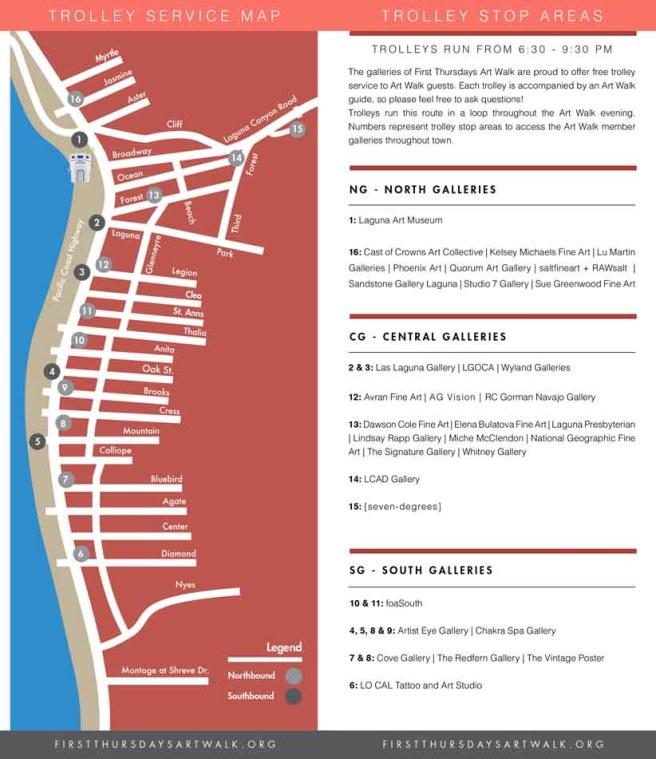 Laguna Beach First Thursdays Art Walk Map Spring 2019