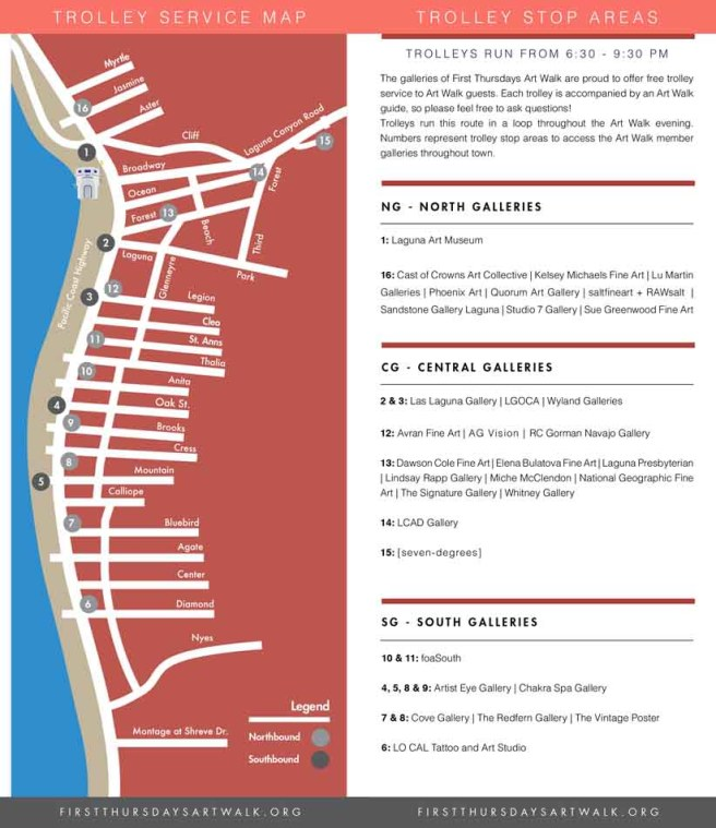 Laguna Beach First Thursdays Art Walk Map Spring 2019