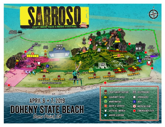 Sabroso Doheny State Beach 2019 Event Map