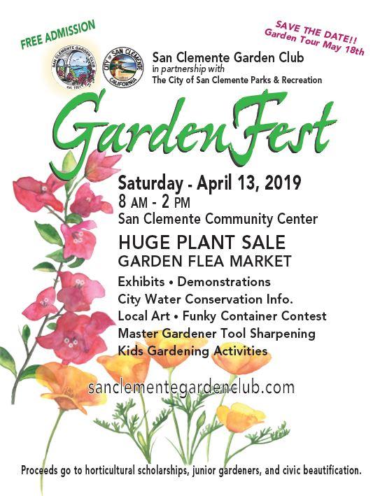 San Clemente Garden Fest April 13 2019
