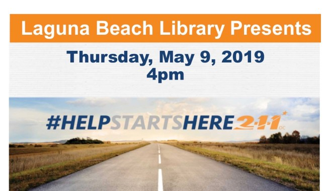 Laguna Beach Library Help Starts Here May 9 2019