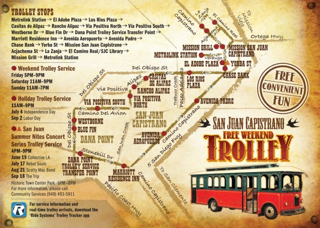 San Juan Capistrao Trolley Summer 2019 Map