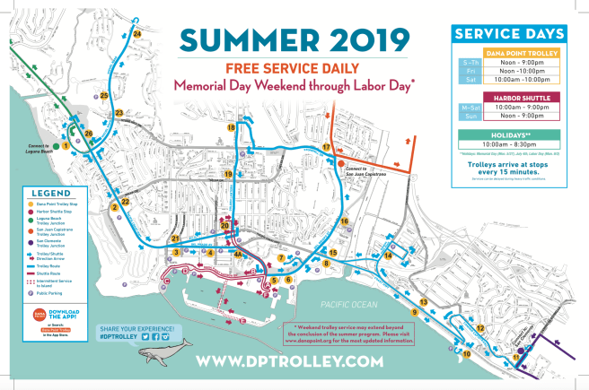 Dana Point Trolley Summer 2019 Map