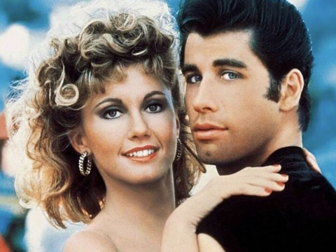 Olivia Newton John and John Travolta in Grease Courtesy of Paramount.co