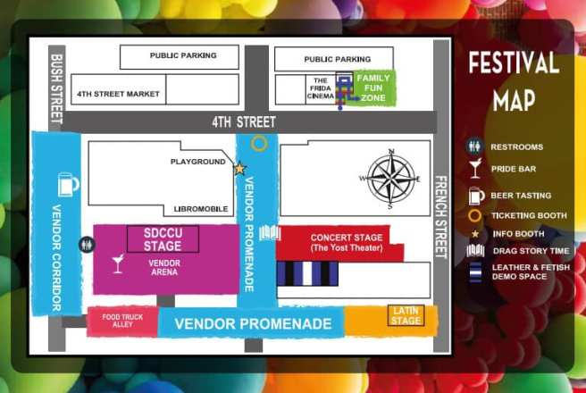 Orange County Pride June 22 2019 Festival Map