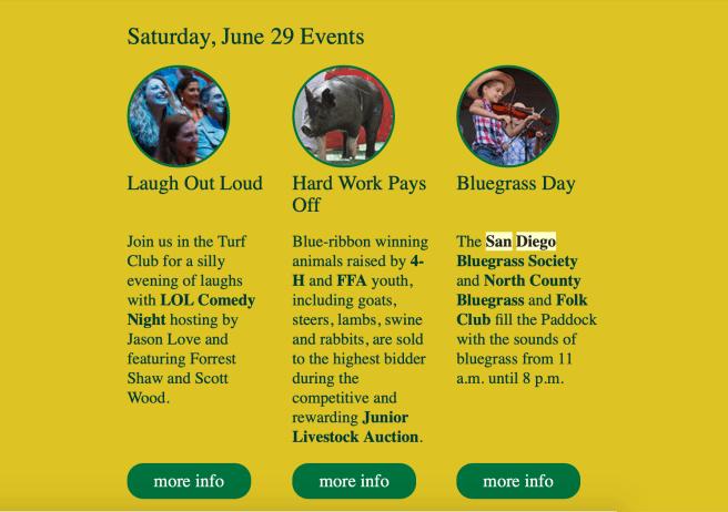 San Diego County Fair Guide Saturday June 29 2019 – South OC