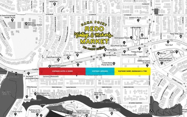 Dana Point Redo Vintage & Maker's Market Augsut 25 2019 Event Map
