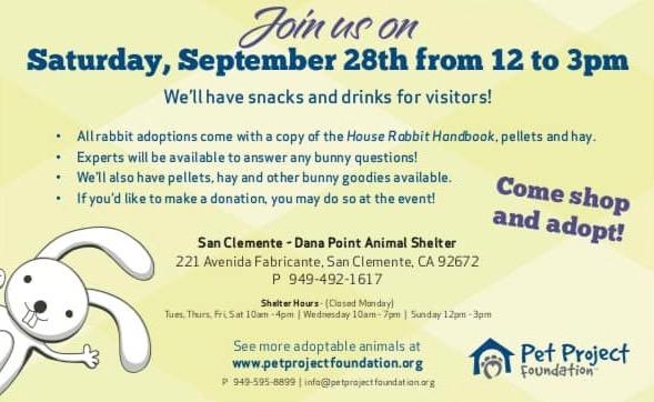 San Clemente Bunny Palooza! September 28 2019