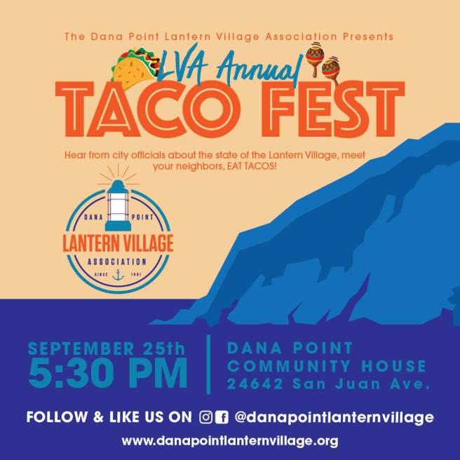 Dana Point Lantern Village Association Taco Fest September 25 2019
