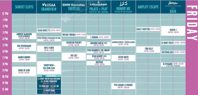 Kaaboo Del Mar Friday Schedule September 13 2019