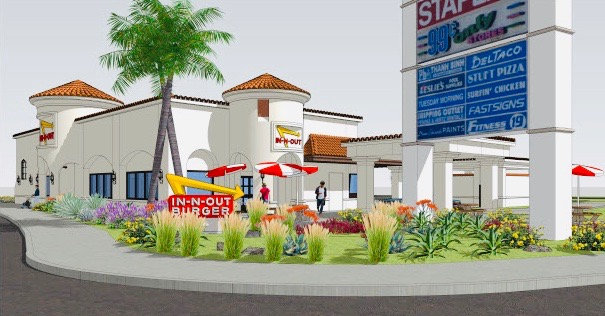 In-N-Out San Clemente Color 3 D Renderings September 2019