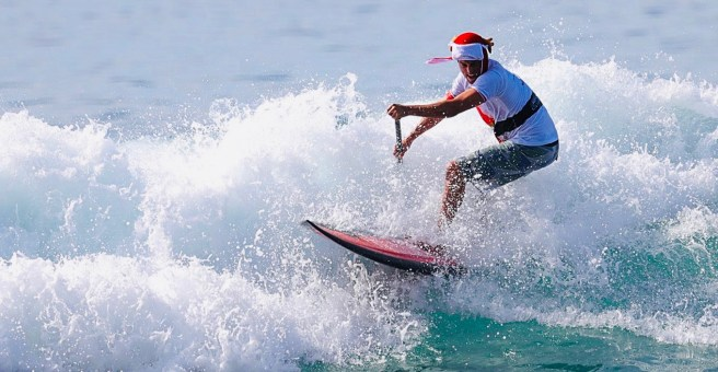 Dana Point Salt Creek Beach Surfing Santa Courtesy of SurfingSantaCompetition.com