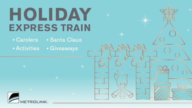 Metrolink Holiday Express Train Sunday December 1 2019