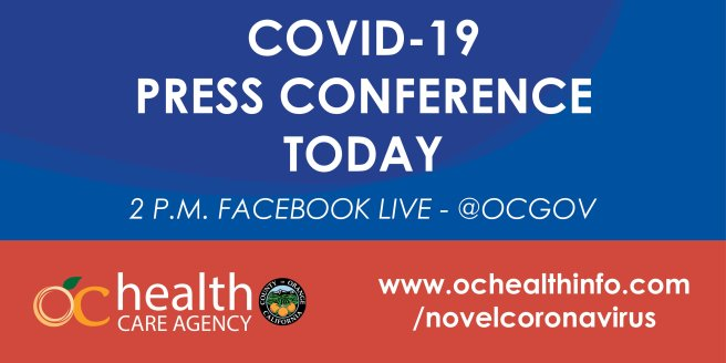 Orange County Califoria Health Care Agency COVID-19 Press Conference Facebook Live April 2 2020