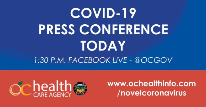 Orange County Health Care Agency Facebook Live Press Conference March 27 2020
