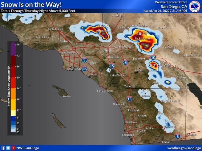 Southern California Snow Report April 6 2020