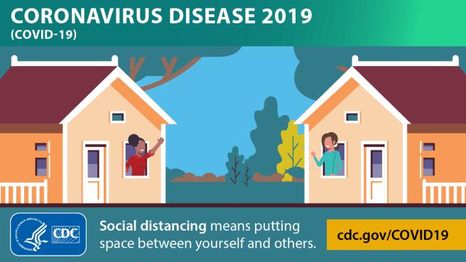 CoronaVirus (COVID-19) Social Distancing Courtesy of CDC
