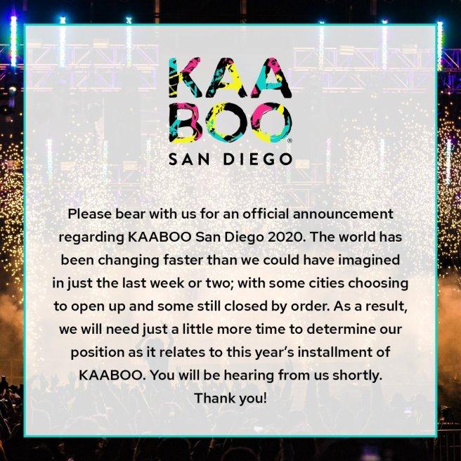 Kaaboo San Diego June 15 2020