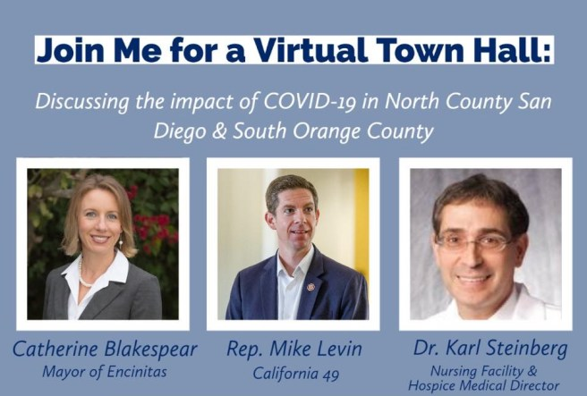 Mike Levin COVID-19 Virtual Town Hall Wednesday June 3 2020