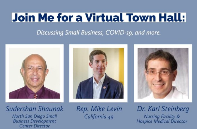 Congressman Mike Levin Virtual Town Hall Wednesday July 15 2020