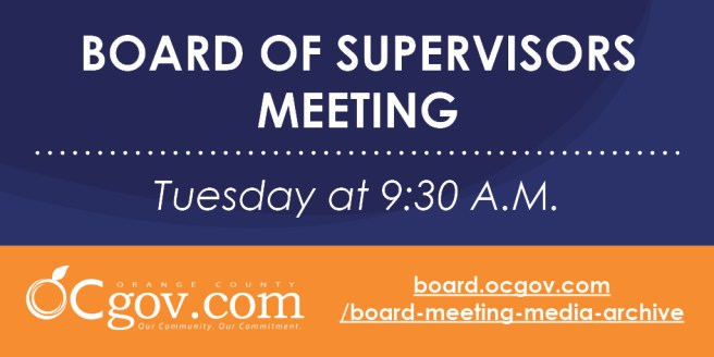 Orange County Board of Supervisors Meeting Tuesday August 11 2020