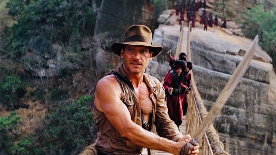 Harrison Ford in Indiana Jones and The Temple of Doom Courtesy of Paramount Pictures
