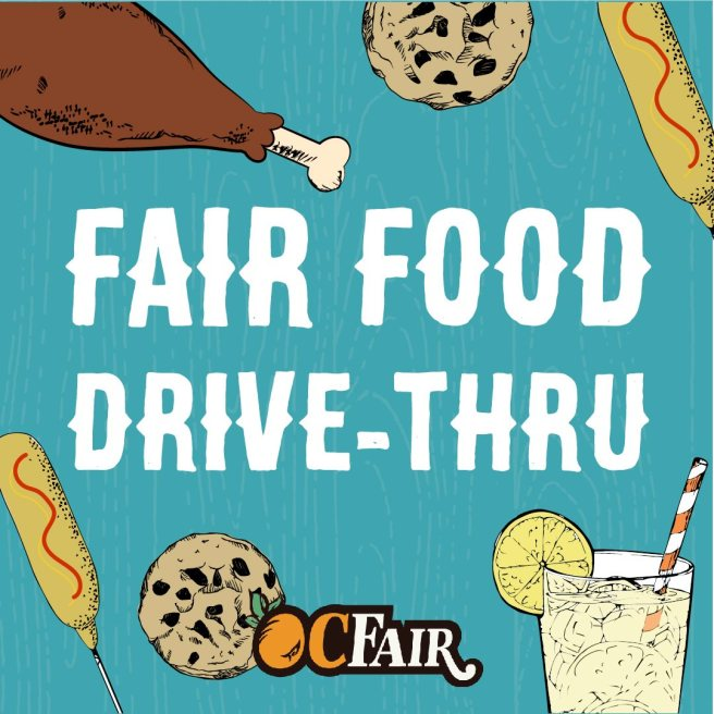 Orange County Fair Food Drive Thru August 2020