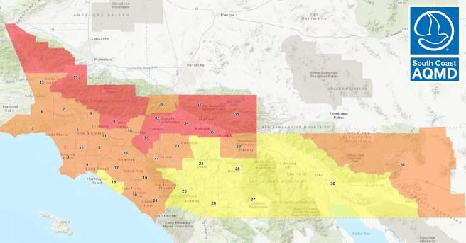 South Coast AQMD Air Quality September 18 2020
