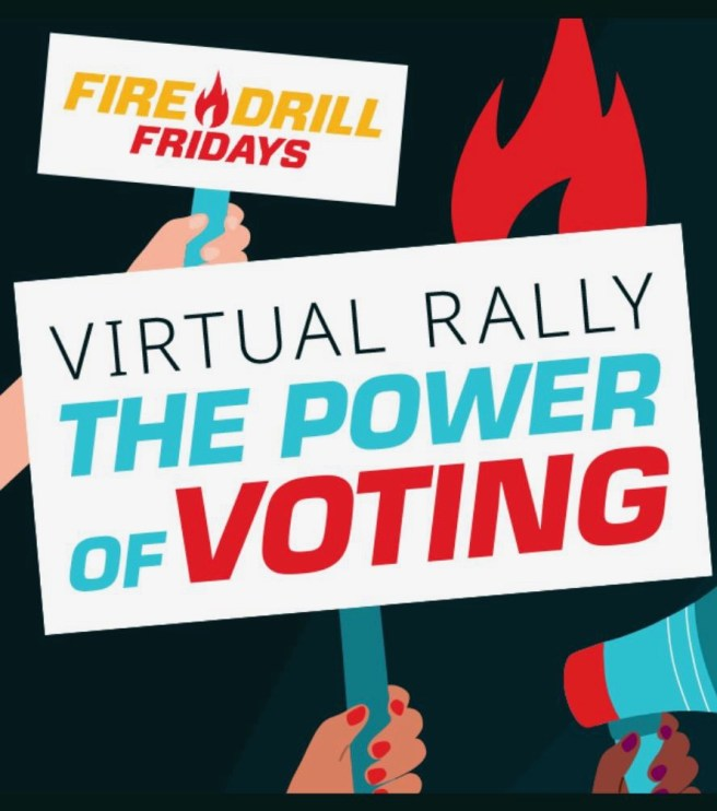 Greenpeace Jane Fonda Fire Drill Fridays Virtual Rally The Power of Voting October 2 2020