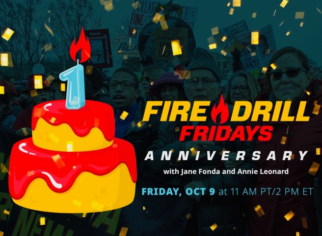 Greenpeace/Jane Fonda Fire Drill Fridays One Year Anniversary Event Friday October 9 2020