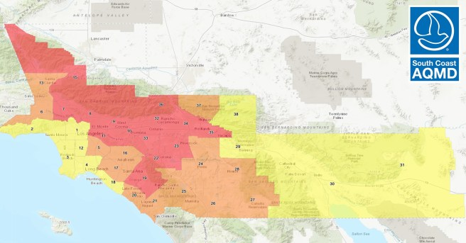 South Coast AIr Quality Management District AIr Quality for Southern California October 3 2020