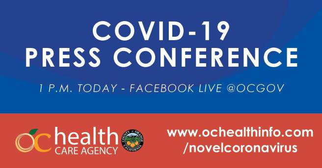 County of Orange California COVID-19 Facebook Live Press Conference October 22 2020